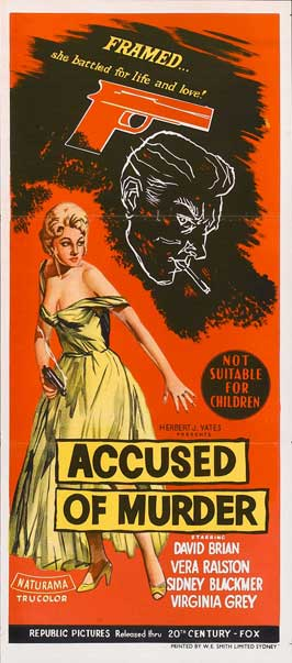 Accused of Murder - 13 x 30 Movie Poster - Australian Style A