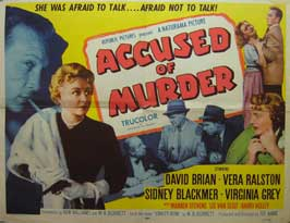 Accused of Murder - 22 x 28 Movie Poster - Half Sheet Style A