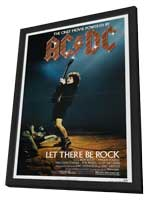AC/DC: Let There Be Rock - 27 x 40 Movie Poster - Style A - in Deluxe Wood Frame