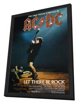 AC/DC: Let There Be Rock - 11 x 17 Movie Poster - Style A - in Deluxe Wood Frame