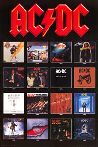 AC/DC - Music Poster - 24 x 36 - Style A
