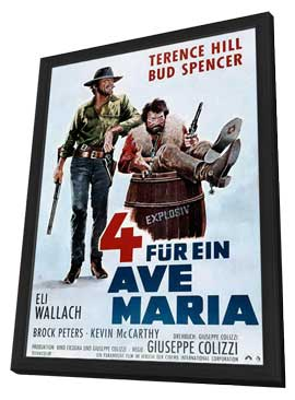Ace High - 27 x 40 Movie Poster - German Style A - in Deluxe Wood Frame