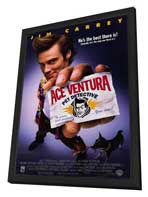 Ace Ventura: Pet Detective - 27 x 40 Movie Poster - Style A - in Deluxe Wood Frame