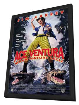 Ace Ventura: When Nature Calls - 27 x 40 Movie Poster - Style A - in Deluxe Wood Frame