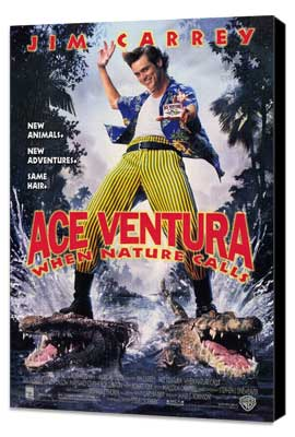 Ace Ventura: When Nature Calls - 11 x 17 Movie Poster - Style A - Museum Wrapped Canvas