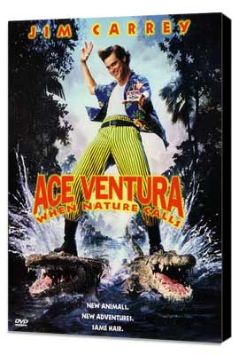 Ace Ventura: When Nature Calls - 27 x 40 Movie Poster - Style B - Museum Wrapped Canvas