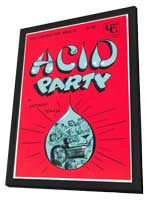 Acid Party - 11 x 17 Retro Book Cover Poster - in Deluxe Wood Frame