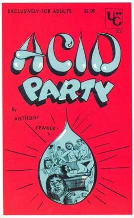 Acid Party - 11 x 17 Retro Book Cover Poster