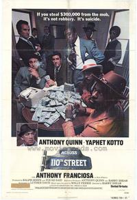 Across 110th Street - 43 x 62 Movie Poster - Bus Shelter Style A