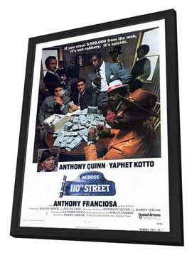 Across 110th Street - 27 x 40 Movie Poster - Style A - in Deluxe Wood Frame