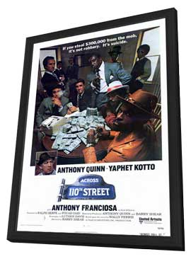 Across 110th Street - 11 x 17 Movie Poster - Style A - in Deluxe Wood Frame