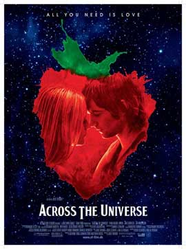 Across the Universe - 27 x 40 Movie Poster - Danish Style A