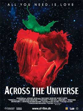 Across the Universe - 27 x 40 Movie Poster - Danish Style C