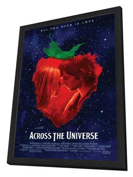 Across the Universe - 11 x 17 Movie Poster - Style A - in Deluxe Wood Frame
