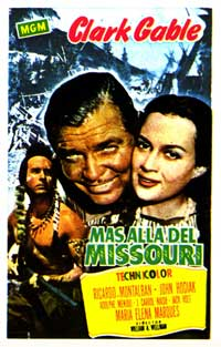 Across the Wide Missouri - 27 x 40 Movie Poster - Spanish Style A