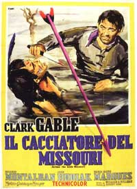 Across the Wide Missouri - 11 x 17 Movie Poster - Italian Style A