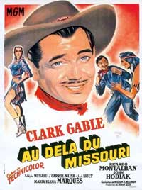 Across the Wide Missouri - 11 x 17 Movie Poster - Spanish Style B