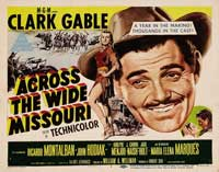 Across the Wide Missouri - 22 x 28 Movie Poster - Half Sheet Style B