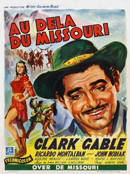 Across the Wide Missouri - 11 x 17 Movie Poster - Belgian Style A