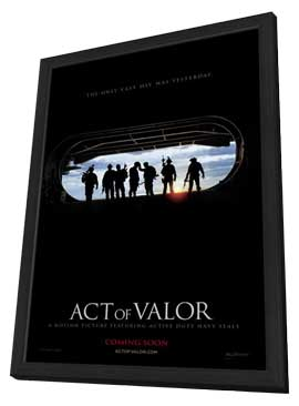 Act of Valor - 27 x 40 Movie Poster - Style A - in Deluxe Wood Frame