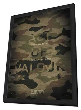 Act of Valor - 11 x 17 Movie Poster - Style B - in Deluxe Wood Frame
