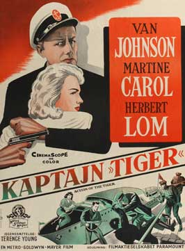 Action of the Tiger - 27 x 40 Movie Poster - Danish Style A