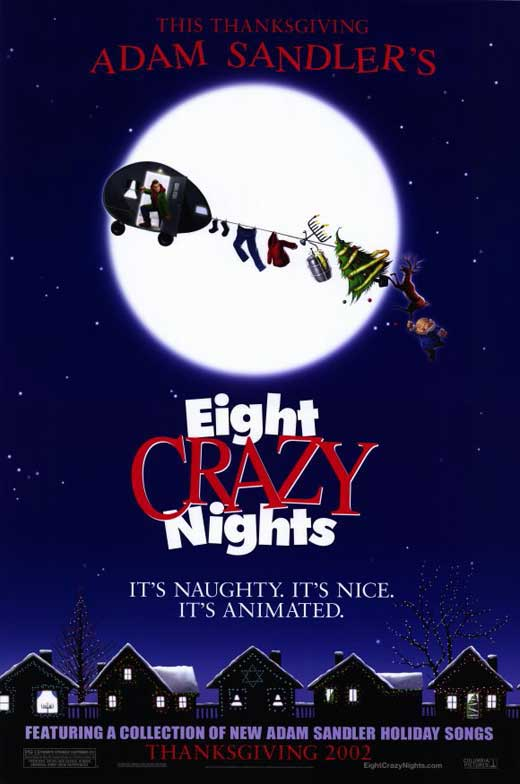 adam sandlers eight crazy nights movie posters from movie