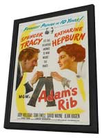 Adam's Rib - 11 x 17 Movie Poster - Style B - in Deluxe Wood Frame