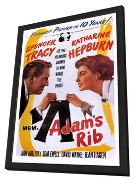 Adam's Rib - 27 x 40 Movie Poster - Style A - in Deluxe Wood Frame