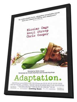 Adaptation - 27 x 40 Movie Poster - Style A - in Deluxe Wood Frame
