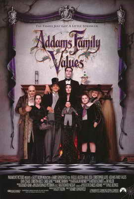 Addams Family Values - 27 x 40 Movie Poster - Style B