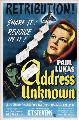 Address Unknown - 43 x 62 Movie Poster - Bus Shelter Style A