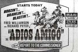 Adios Amigo - 11 x 17 Movie Poster - Style C