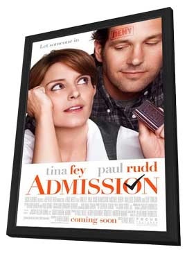 Admission - 11 x 17 Movie Poster - Style A - in Deluxe Wood Frame