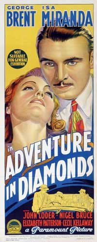 Adventure in Diamonds - 14 x 36 Movie Poster - Insert Style A