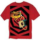 Adventure Time (TV) - No One Can Hear You Scream Red T-Shirt