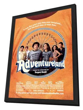 Adventureland - 27 x 40 Movie Poster - Style A - in Deluxe Wood Frame