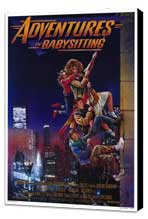 Adventures in Babysitting - 27 x 40 Movie Poster - Style A - Museum Wrapped Canvas