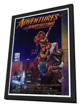 Adventures in Babysitting - 27 x 40 Movie Poster - Style A - in Deluxe Wood Frame