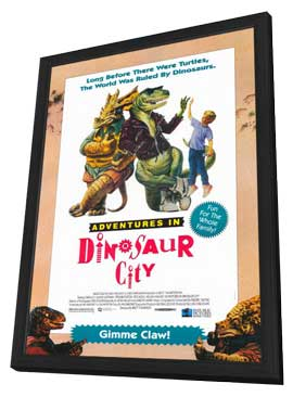 Adventures in Dinosaur City - 11 x 17 Movie Poster - Style A - in Deluxe Wood Frame