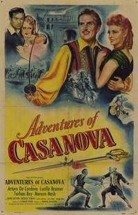 Adventures of Casanova - 11 x 17 Movie Poster - Style A