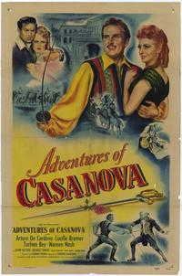 Adventures of Casanova - 27 x 40 Movie Poster - Style A
