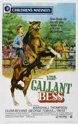Adventures of Gallant Bess - 11 x 17 Movie Poster - Style A