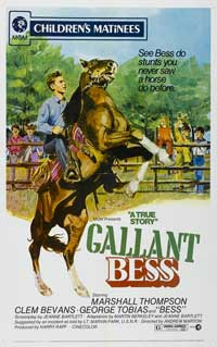 Adventures of Gallant Bess - 27 x 40 Movie Poster - Style A