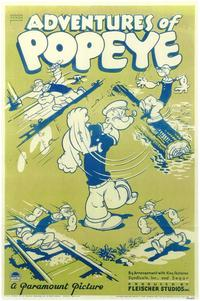 Adventures of Popeye - 43 x 62 Movie Poster - Bus Shelter Style A