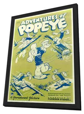 Adventures of Popeye - 11 x 17 Movie Poster - Style A - in Deluxe Wood Frame