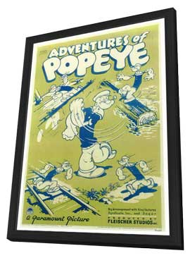 Adventures of Popeye - 27 x 40 Movie Poster - Style A - in Deluxe Wood Frame
