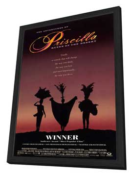 The Adventures of Priscilla, Queen of the Desert - 27 x 40 Movie Poster - Style B - in Deluxe Wood Frame