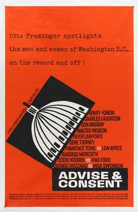 Advise and Consent - 27 x 40 Movie Poster - Style B