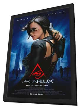 Aeon Flux - 11 x 17 Movie Poster - Style D - in Deluxe Wood Frame